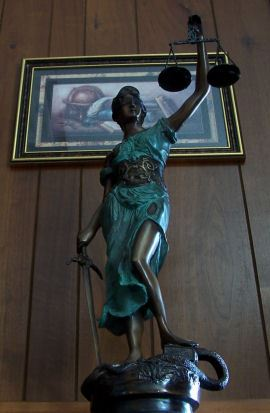 Statue in the Courthouse