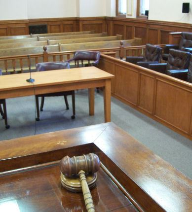 Judge's View of Court Room