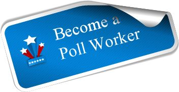 Become a Poll Worker Sticker