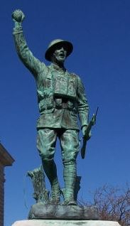 Military Statue in Miami County