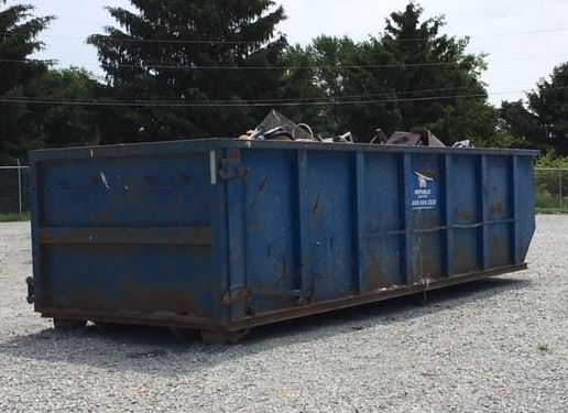Another well used roll-off container.